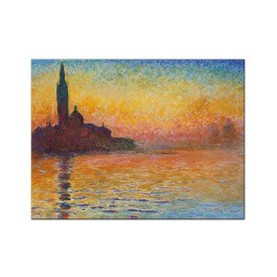 Klebefieber Monet Abendstimmung in Venedig Photographic Print on Canvas