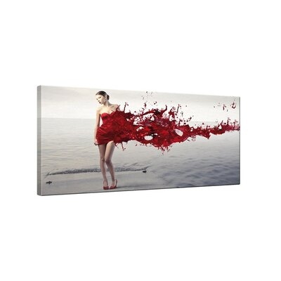 Klebefieber Lady in Red Photographic Print on Canvas