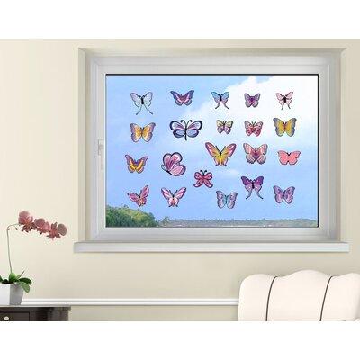 Klebefieber Schmetterlingsset Lavendel Window Sticker