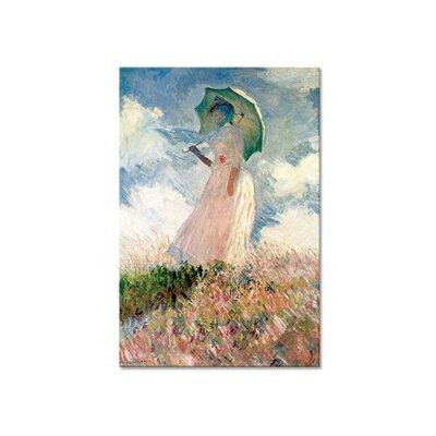 Klebefieber Monet Frau mit Sonnenschirm Photographic Print on Canvas