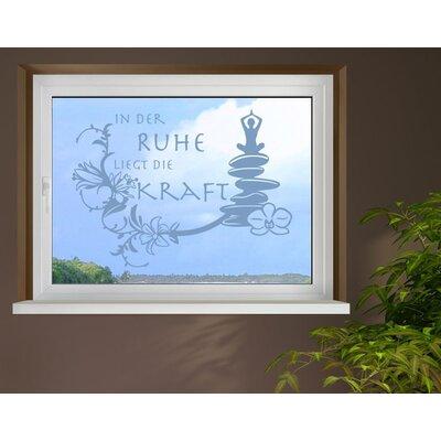 Klebefieber Ruhe Window Sticker