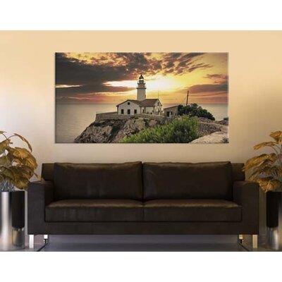 Klebefieber Leuchtturm im Sonnenaufgang Photographic Print on Canvas