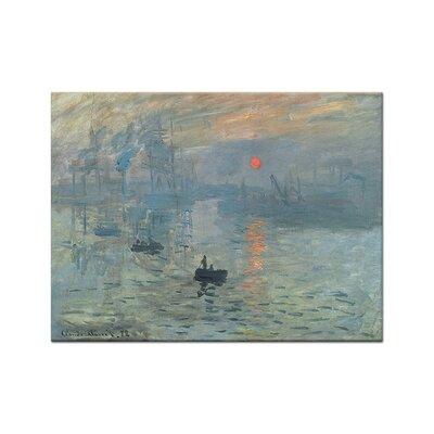 Klebefieber Monet Sonnenaufgang Photographic Print on Canvas