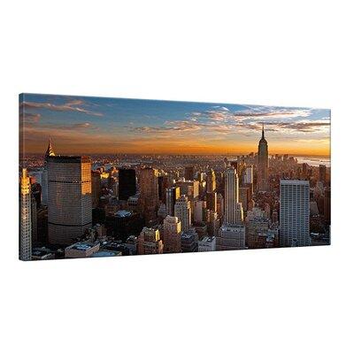 Klebefieber New York Sunset Photographic Print on Canvas