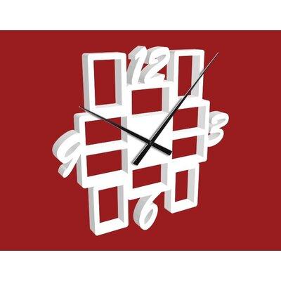 Klebefieber 10-Piece Photo Frame Analogue Wall Clock