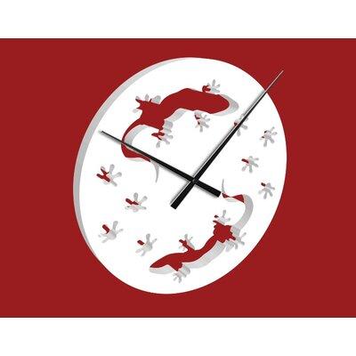 Klebefieber Gecko Analogue Wall Clock