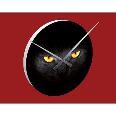 Klebefieber Golden Cat Eyes Analogue Wall Clock