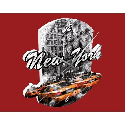Klebefieber New York Taxi Cabs Analogue Wall Clock