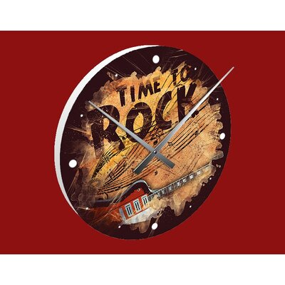 Klebefieber Time to Rock Analogue Wall Clock