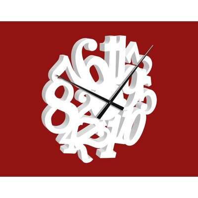 Klebefieber Number Confusion Analogue Wall Clock