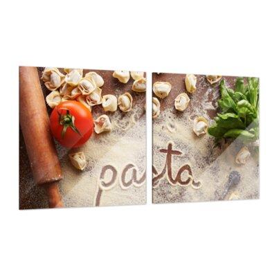Klebefieber Pasta Italiana 2-Piece Glass Art Set