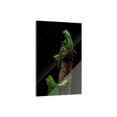 Klebefieber Leguan Glass Art