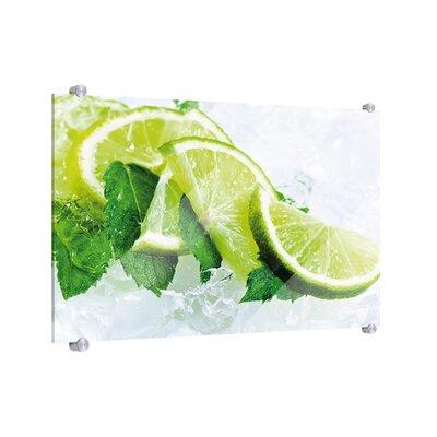Klebefieber Limetten auf Eis Glass Art