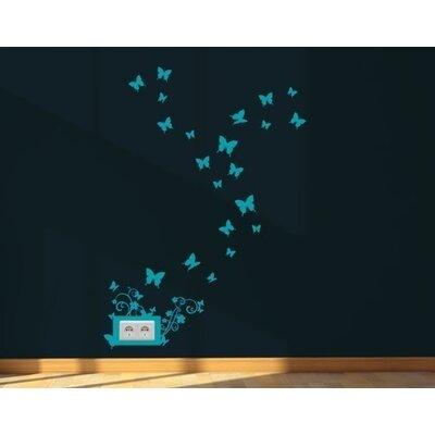 Klebefieber Schmetterlingskringel Wall Sticker