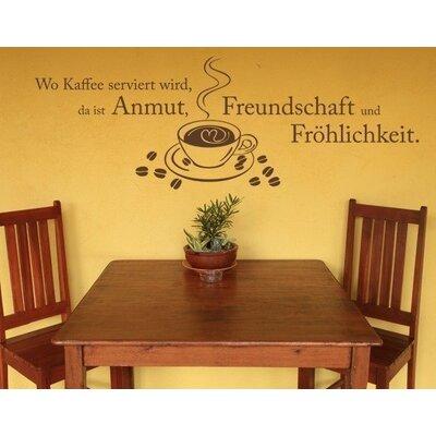 Klebefieber Kaffee und Freundschaft Wall Sticker