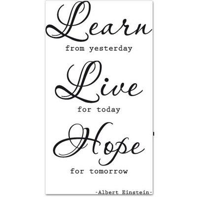 Klebefieber Learn, Live, Hope Wall Sticker