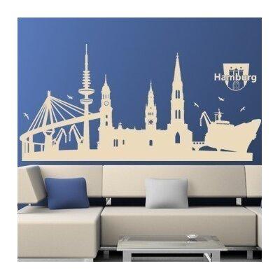 Klebefieber Hamburg-Skyline Wall Sticker