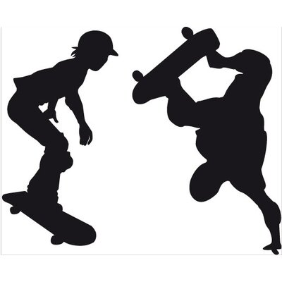 Klebefieber Skateboarder Wall Sticker