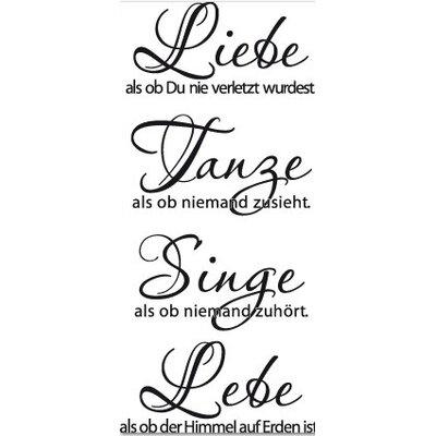 Klebefieber Liebe, Tanze, Lebe Wall Sticker