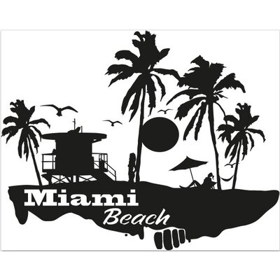 Klebefieber Miami Beach Wall Sticker