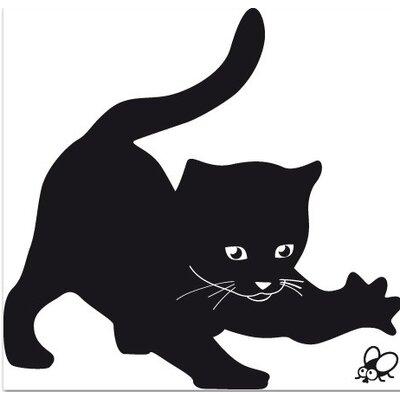 Klebefieber Spielende Katze Wall Sticker