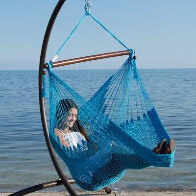 Caribbean Polyester Chair Hammock Color: Light Blue