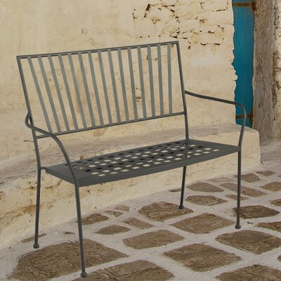GardenToHome 2 Seater Metal Bench