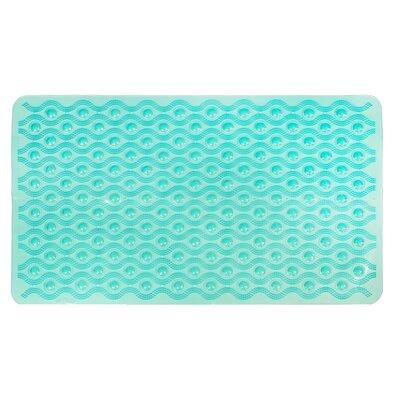 Non-Slip Wave Bath Mat Color: Teal