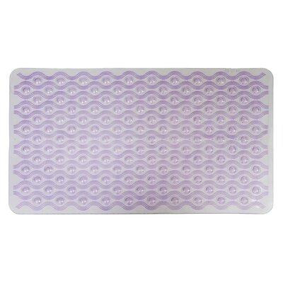 Non-Slip Wave Bath Mat Color: Purple