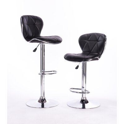 Adjustable Height Swivel Bar Stool Color: Black