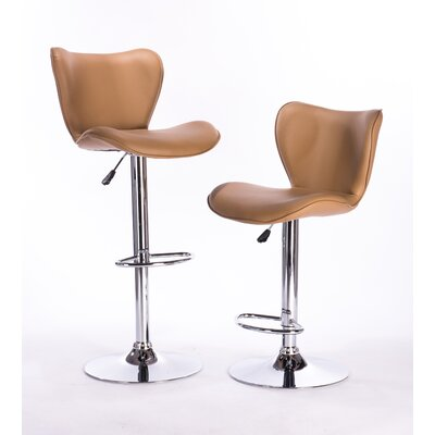 Adjustable Height Swivel Bar Stool Color: Caramel
