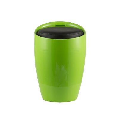Hidden Storage Ottoman Stool Color: Green/Black