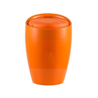 Hidden Storage Ottoman Stool Color: Orange/Orange