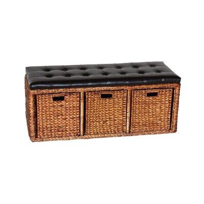 Wicker Storage Bench