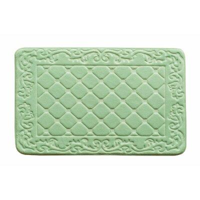 Memory Foam Bath Rug Color: Green