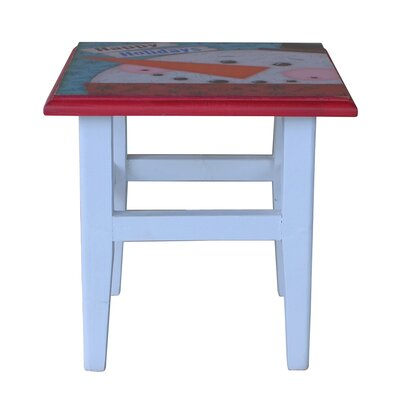 Holiday Square Printing Stool