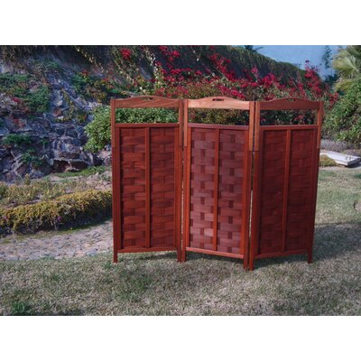 Torin 3 Panel Room Divider Color: Mahogany