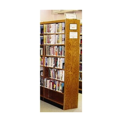 Double Face Standard Bookcase Finish: Spiced Walnut, Size: 96'' H x 37.75'' W x 16'' D