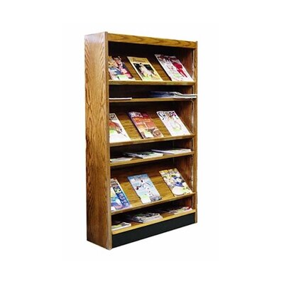 Single Face Magazine Shelving with Backs Color: Bleached Mahogany