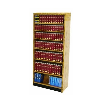 "Single Face Standard Bookcase Size: 96"" H x 36"" W x 12"" D, Finish: Natural"