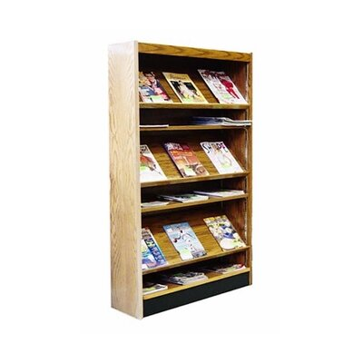 Single Face Open Back Magazine Shelving Adder Color: Cherry Mahogany