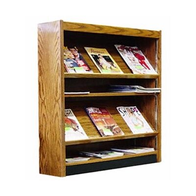 Single Face Open Back Magazine Shelving Adder Color: Walnut