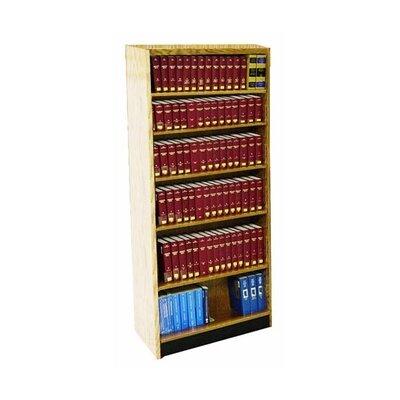 "Double Face Adder Standard Bookcase Finish: Spiced Walnut, Size: 82"" H x 36"" W x 16"" D"