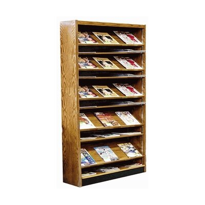 Single Face Open Back Magazine Shelving Adder Color: Spiced Walnut