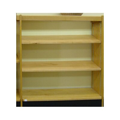 "Open Back Single Face Standard Bookcase Finish: Natural, Size: 42"" H x 36"" W x 10"" D"