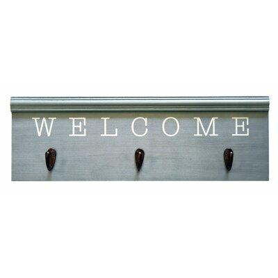 Welcome Entryway Wall Mounted Coat Rack
