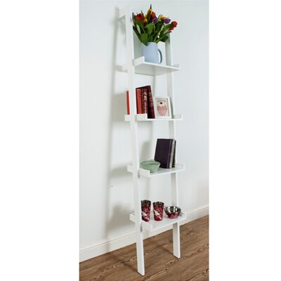 Interior White Sennen Tall Narrow Ladder 180cm Leaning Bookcase