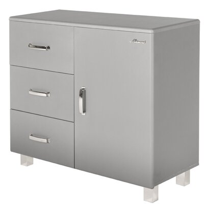 Miami 1 Door and 3 Drawer Accent Cabinet Color: Silver Gray