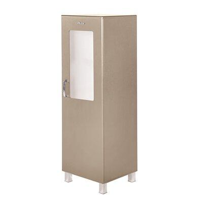 Miami 1 Door Storage Cabinet Finish: Taupe