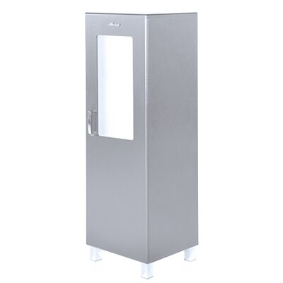 Miami 1 Door Storage Cabinet Finish: Silver Gray